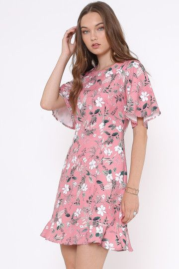 RUTH FLORAL DRESS (ROSE)