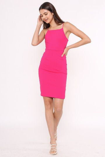 BELINDA BODYCON DRESS (FUCHSIA) (SIZE XS)
