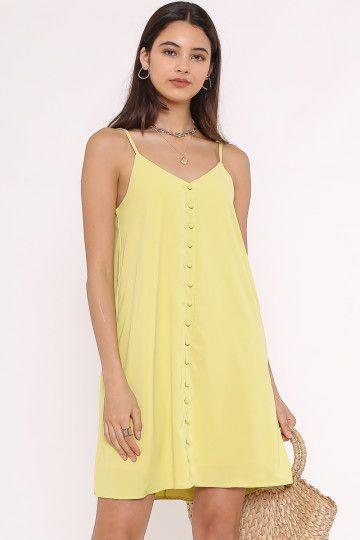 POLLY POCKET DRESS (LEMON) (SIZE L)