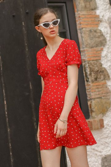 HARLEY HEART DRESS (RED) (SIZE S)