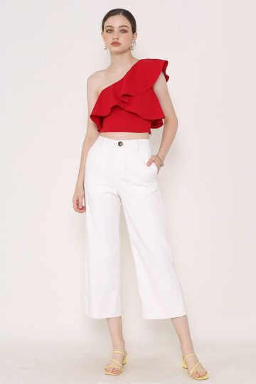 CARTER ANKLE CROPPED PANTS (WHITE)