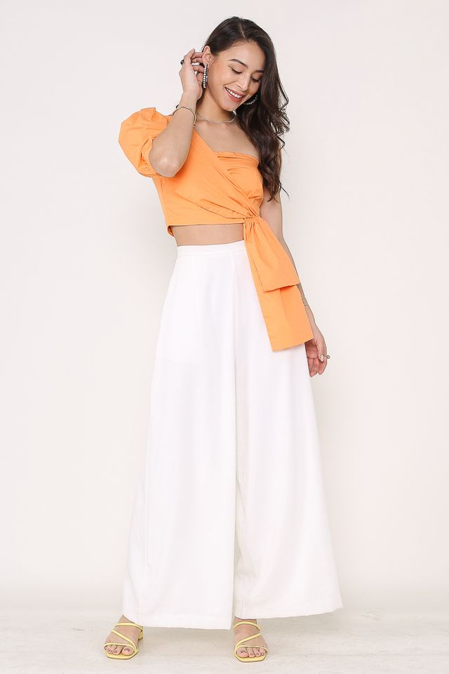 ALISON SUPER FLARE PANTS (WHITE)