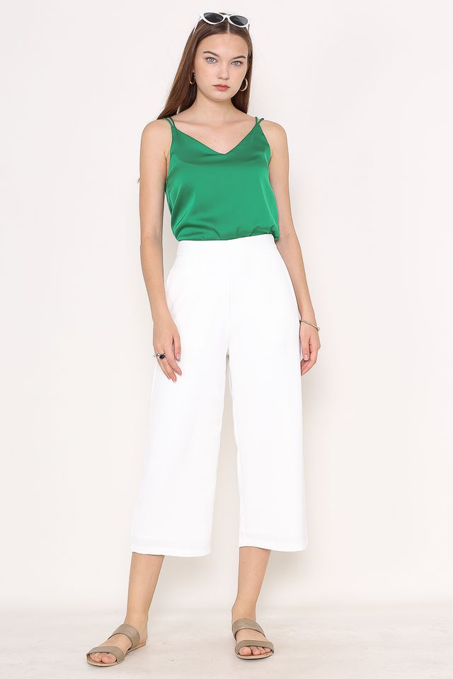ZARA STRAIGHT CUT CULOTTES (WHITE)