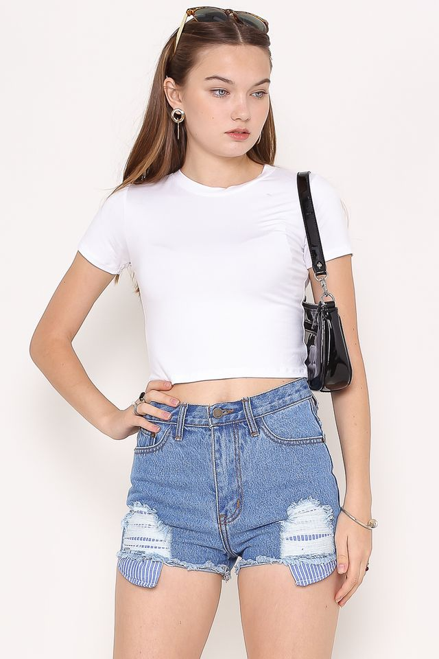 BRYNN BASIC CROP TOP (WHITE)