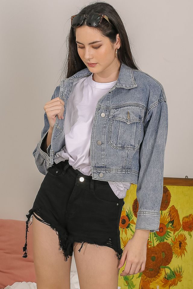 SHIBERTY CROPPED DENIM JACKET