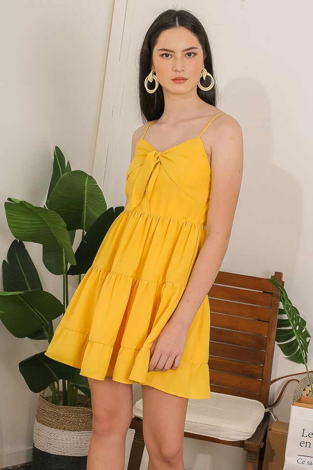 JESSICA KNOTTED TIERED DRESS (YELLOW)