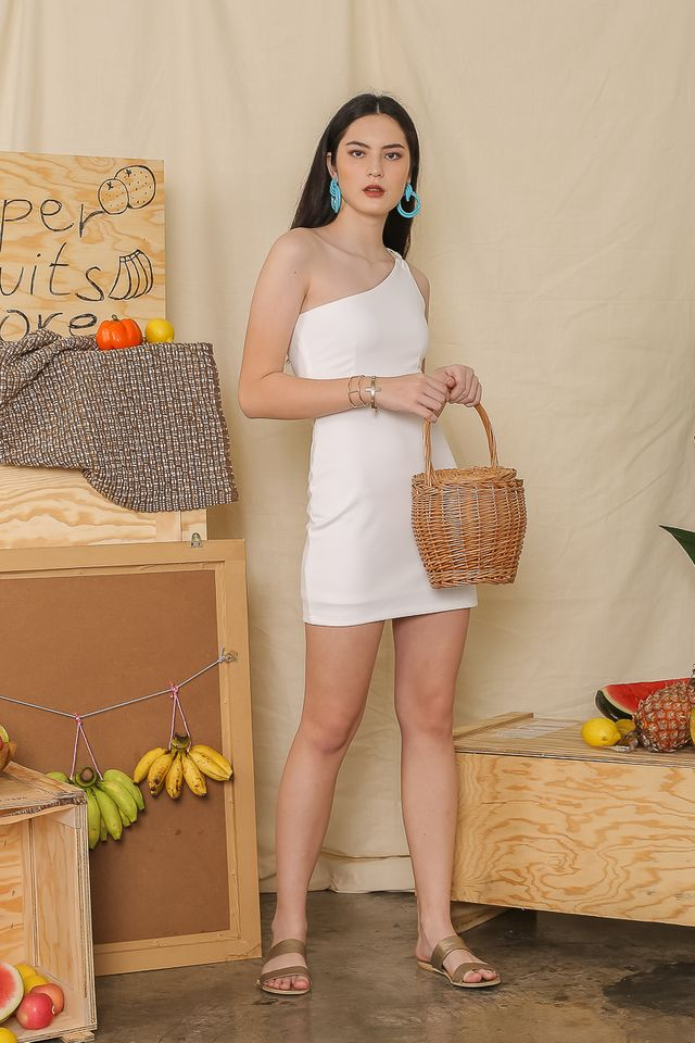 TESSA TOGA DRESS (WHITE)