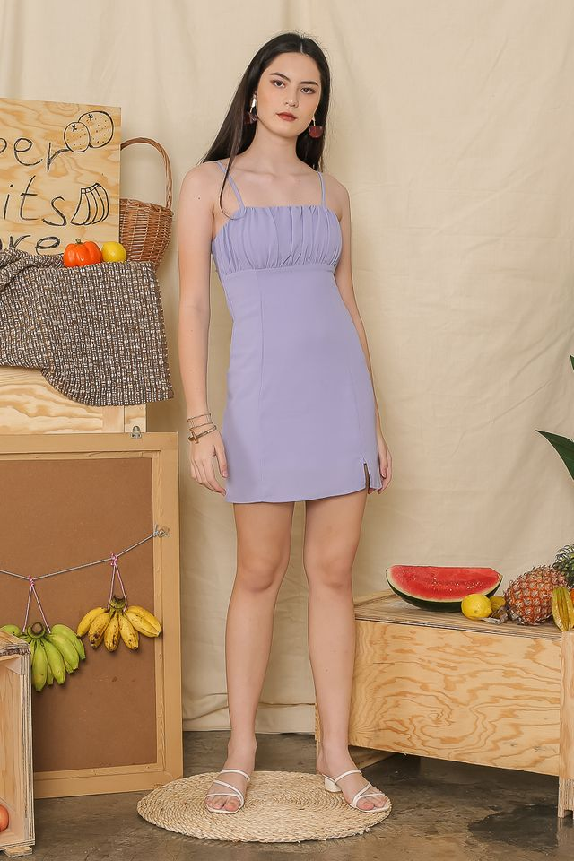 ROXY RUCHED DRESS (LILAC)
