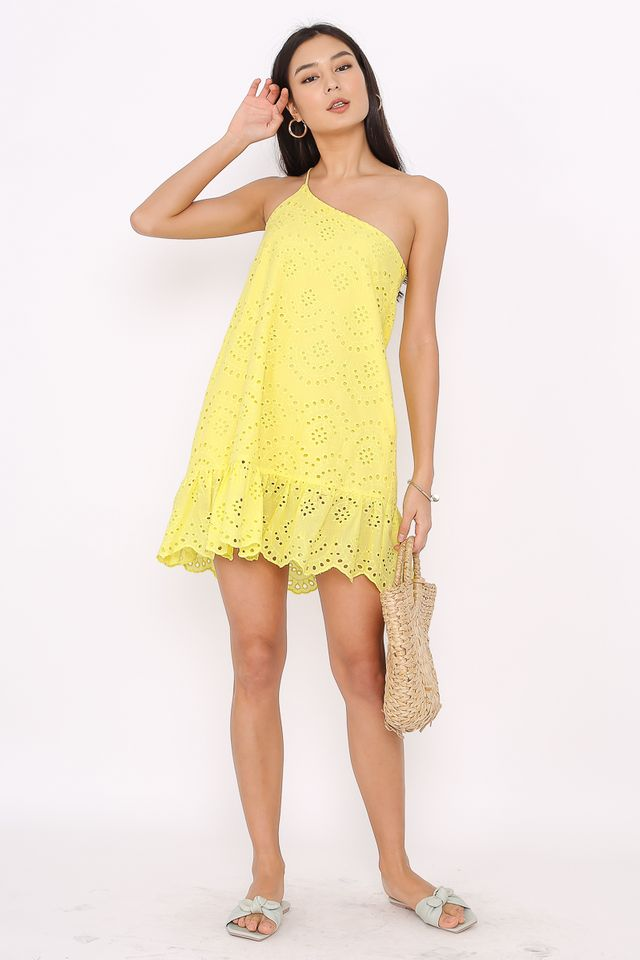 CASSANDRA CROCHET TOGA DRESS (YELLOW)