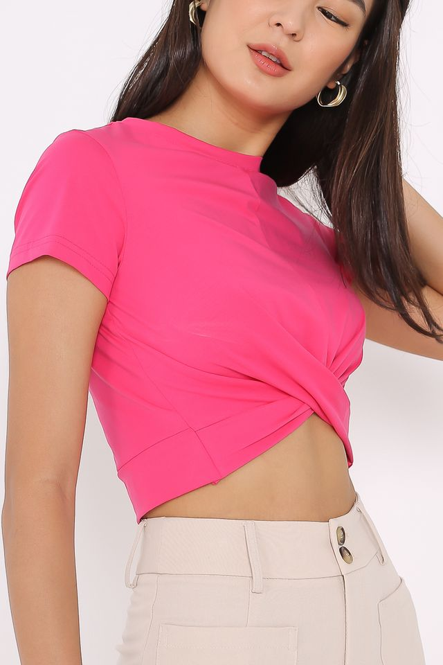 TWIST & TURN TOP (HOT PINK)