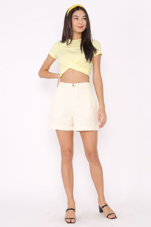 TWIST & TURN TOP (PASTEL YELLOW)