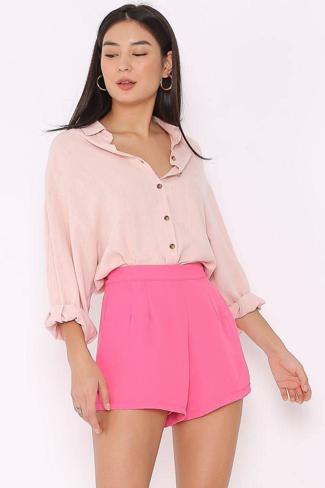 LOREL LINEN SHIRT (LIGHT PINK)