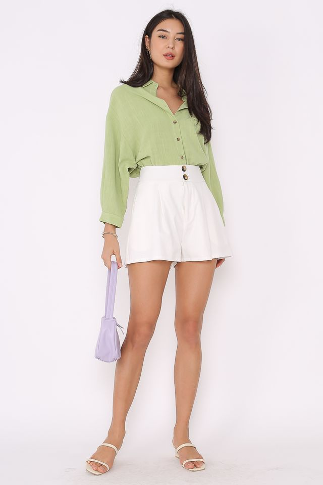 LOREL LINEN SHIRT (GRAPE GREEN)