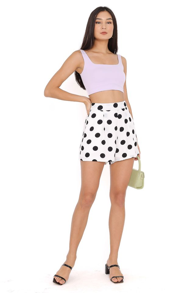 PEDRO POLKA DOT SHORTS (WHITE)