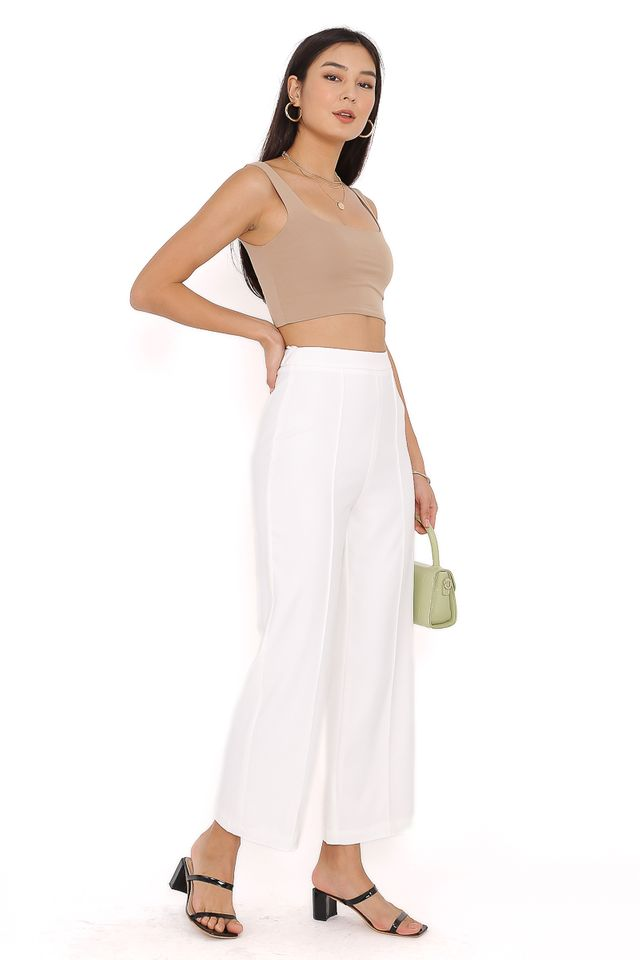PACEY PANELLED PANTS (WHITE) (SIZE S)