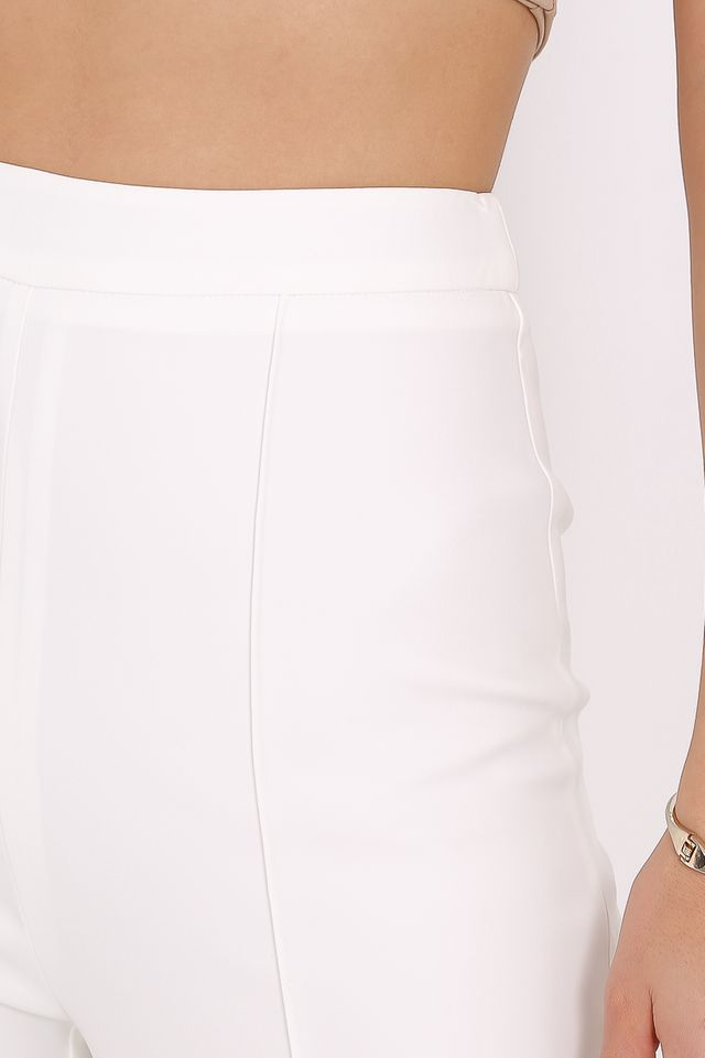 PACEY PANELLED PANTS (WHITE) (SIZE XL)