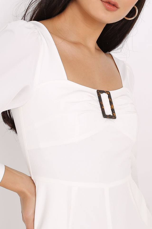BETHANY BUCKLE ROMPER (WHITE)