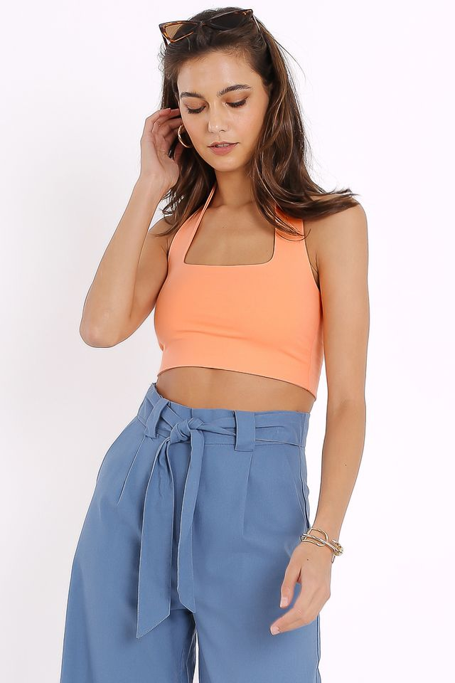 HILTON HALTER TOP (PASTEL ORANGE)