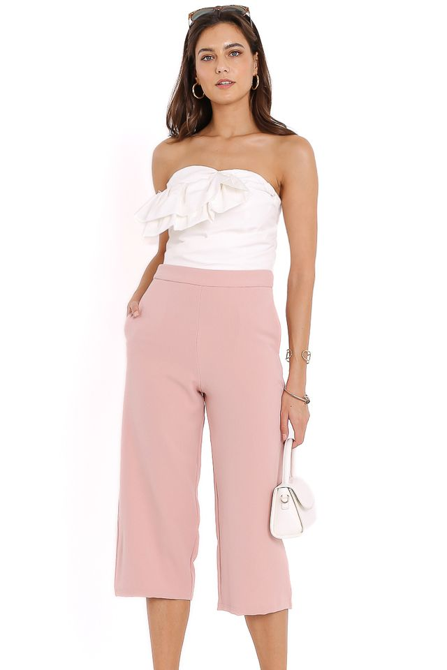 ZARA STRAIGHT CUT CULOTTES (BLUSH PINK)