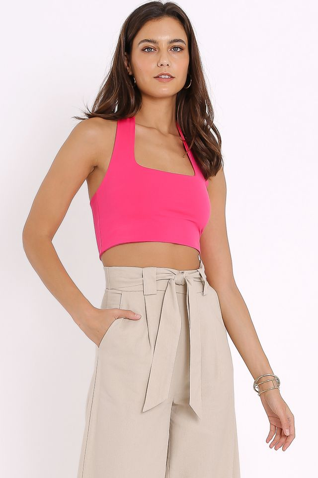 HILTON HALTER TOP (HOT PINK)