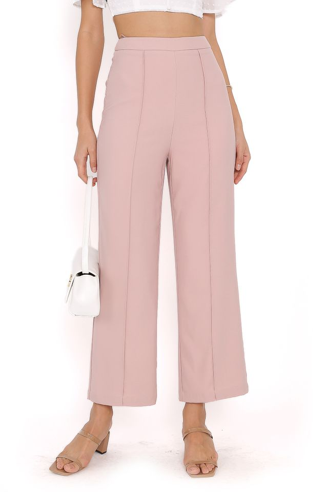 PACEY PANELLED PANTS (DUSTY PINK)