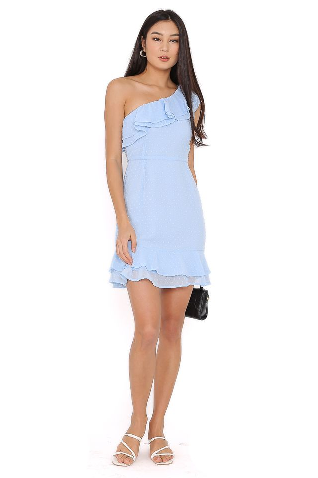 SYLVIA SWISS DOT DRESS (BABY BLUE)
