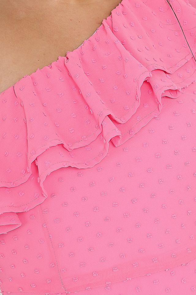 SYLVIA SWISS DOT DRESS (PINK)